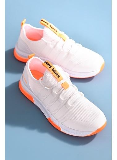 Tonny Black Beyaz Oranj Unısex Spor Ayakkabı Tbqnt Beyaz